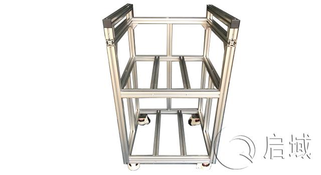工业铝型材移动物料架