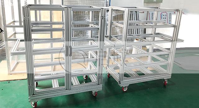 可移动铝型材框架|移动物料车
